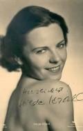 Actress Hilde Krahl, filmography.