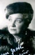 Actress Lina Carstens, filmography.