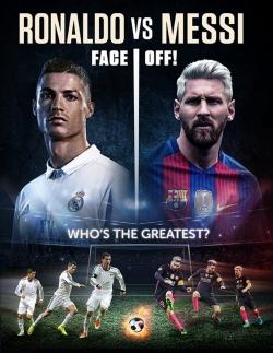 Ronaldo vs. Messi pictures.